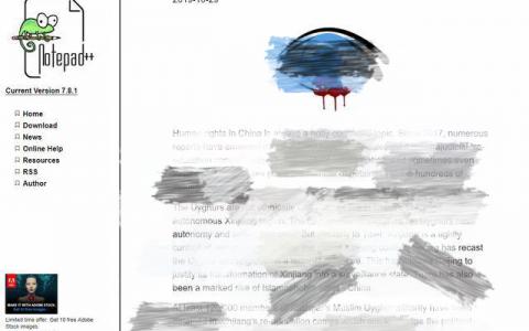 编程软件Notepad++发布不当言论 引发IT从业人士愤怒